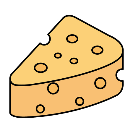 cheese piece isolated icon vector illustration design