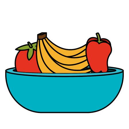 과일 벡터 일러스트 레이 션 디자인 플라스틱 그릇 스톡 콘텐츠 - 95411166