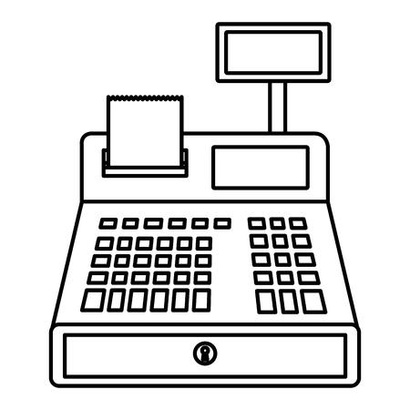register machine isolated icon vector illustration design
