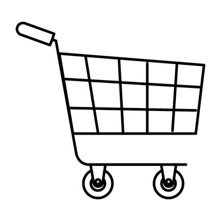 Progettazione dell'illustrazione di vettore dell'icona isolata carrello