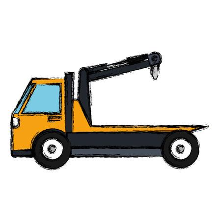crane truck service icon vector illustration design Vettoriali