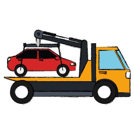 car in truck icon vector illustration design Ilustração