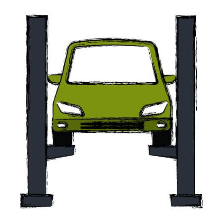 auto nel design di illustrazione vettoriale piattaforma di sincronizzazione Vettoriali