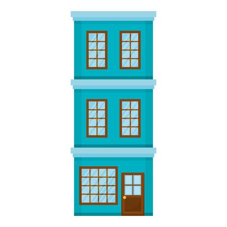 big building facade front vector illustration design Illustration