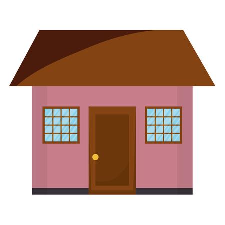 house front facade icon vector illustration design Çizim