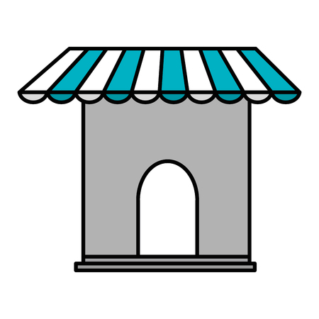 store building front icon vector illustration design Archivio Fotografico - 95412813