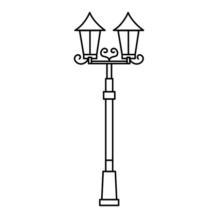 lamp of park icon vector illustration design