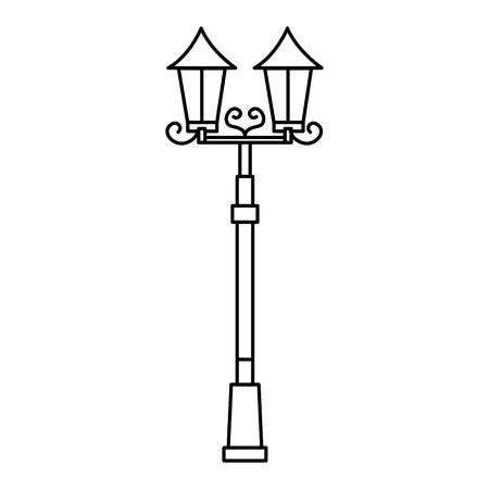 lamp of park icon vector illustration design