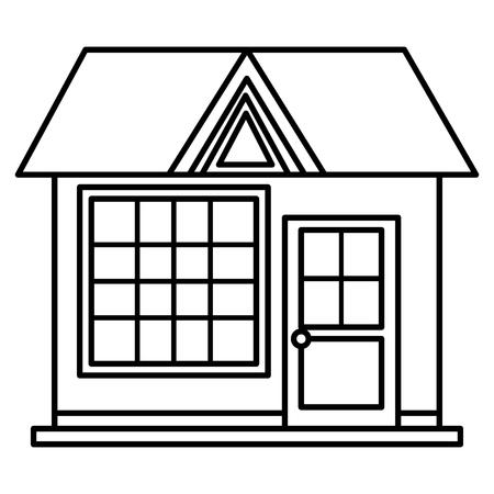house front facade icon vector illustration design Illustration