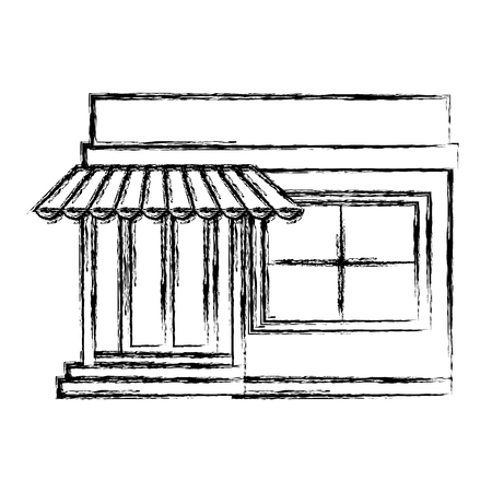 store building front icon vector illustration design Archivio Fotografico - 95413262