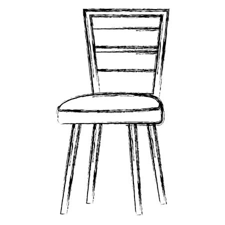 木製の椅子隔離されたアイコンベクトルのイラストのデザイン