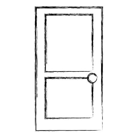 家のドア隔離されたアイコンベクトルのイラストの設計