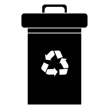 recycle bin isolated icon vector illustration design 向量圖像