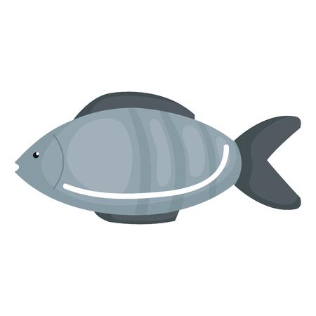 新鮮な魚孤立したアイコンベクトルイラストデザイン