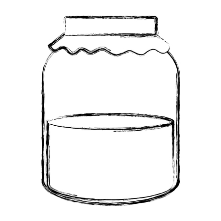 jar with jam isolated icon vector illustration design