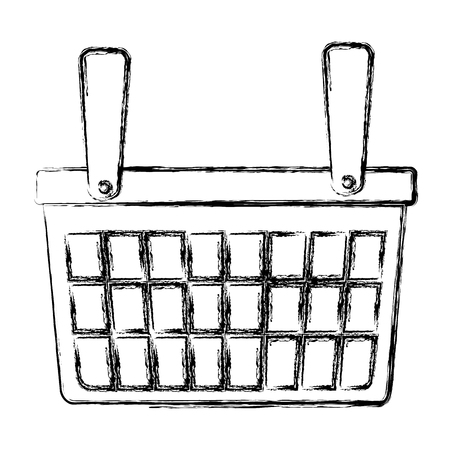 shopping basket isolated icon vector illustration design Ilustrace