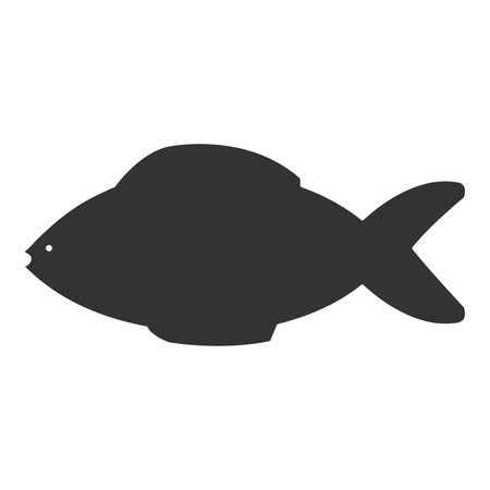 fresh fish isolated icon vector illustration design Illustration