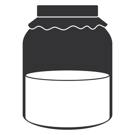 jar with jam isolated icon vector illustration design Banco de Imagens - 95425757