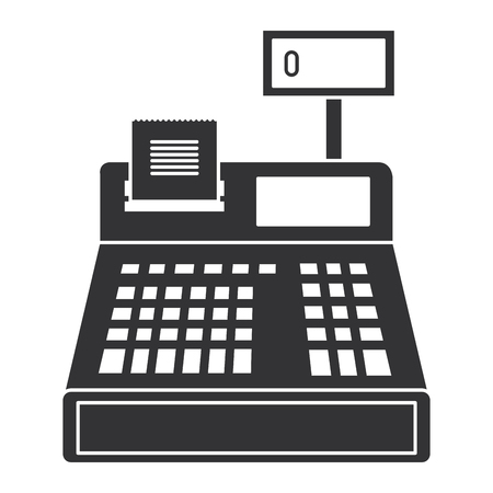 register machine isolated icon vector illustration design