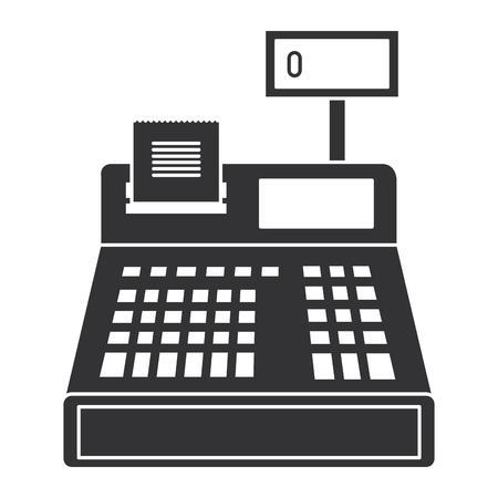 zarejestruj maszynę na białym tle ikona wektor ilustracja projekt