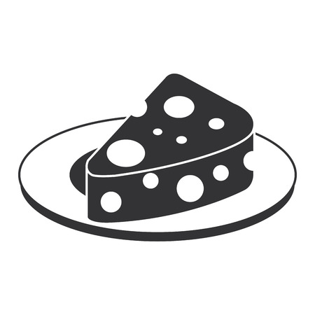 dish with cheese piece isolated icon vector illustration design Illustration