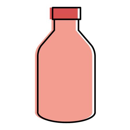 yogurt bottle isolated icon vector illustration design Çizim