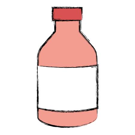 yogurt bottle isolated icon vector illustration design Illustration