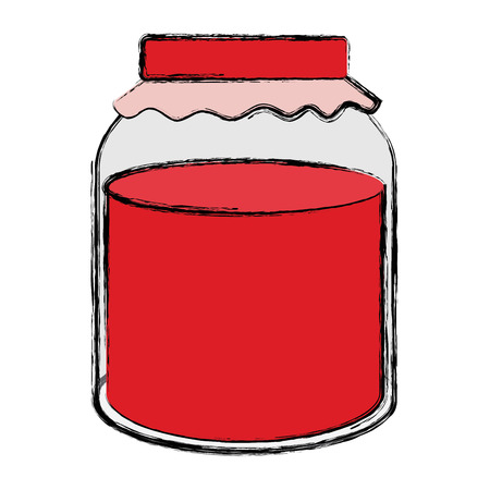 jar with jam isolated icon vector illustration design Banco de Imagens - 95427049