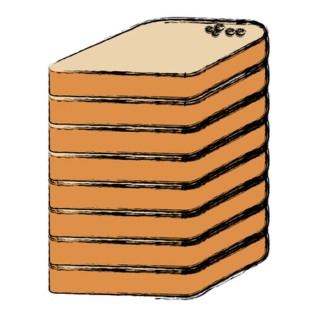 bread sliced pile isolated icon vector illustration design