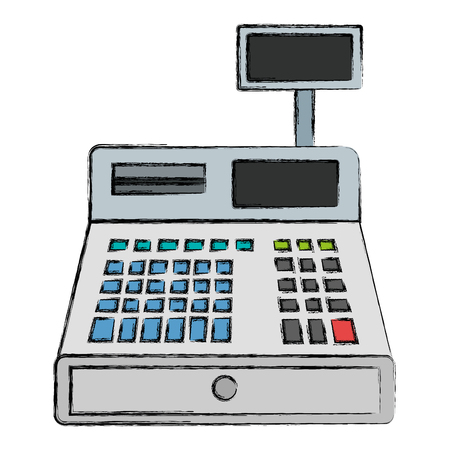 register machine isolated icon vector illustration design Banque d'images - 95427080