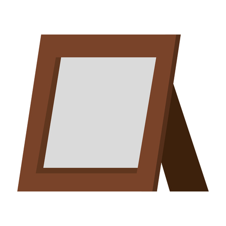 portrait wooden isolated icon vector illustration design Stock Illustratie