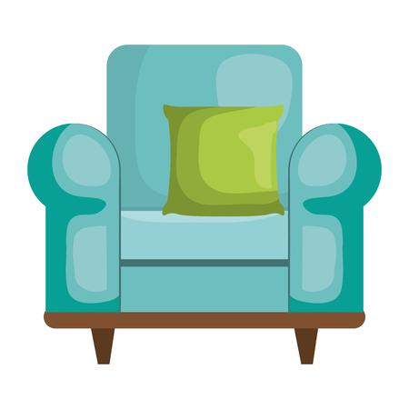 枕ベクトルイラストデザインの快適なソファ