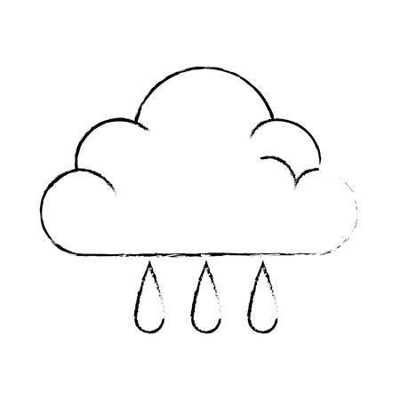 天気雲雨アイコンベクトルイラストデザイン  イラスト・ベクター素材