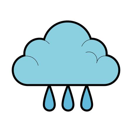 weather cloud rainy icon vector illustration design Illusztráció