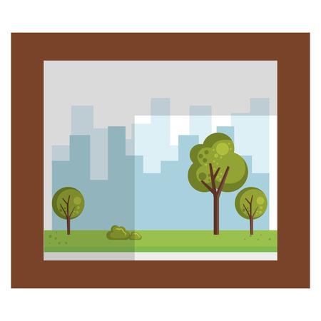 Icône isolé en bois portrait vector illustration design Banque d'images - 95482765