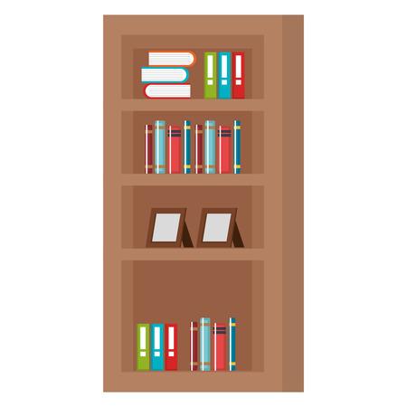 étagère avec livres icône vector illustration design