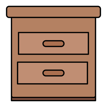 drawer bedroom isolated icon vector illustration design Illustration