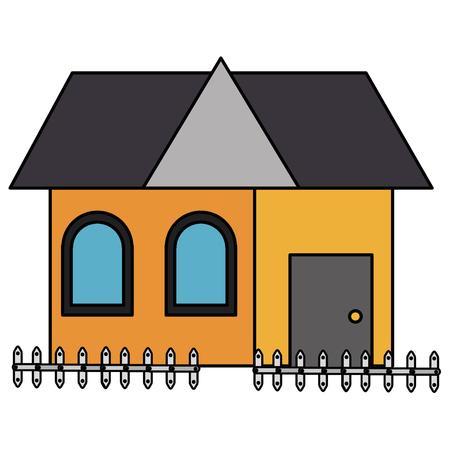 house front facade icon vector illustration design Ilustração