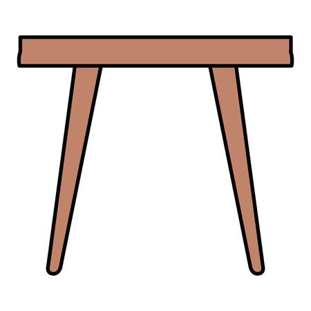 Living room center table  illustration design