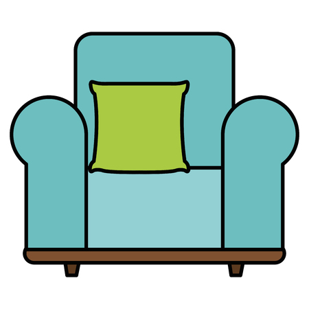 Comfortable sofa with pillow  illustration design