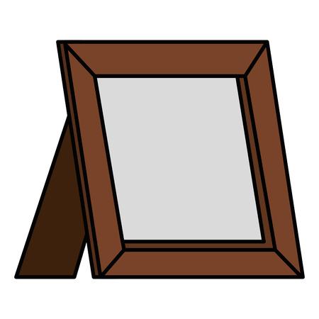 portrait wooden isolated icon vector illustration design Иллюстрация