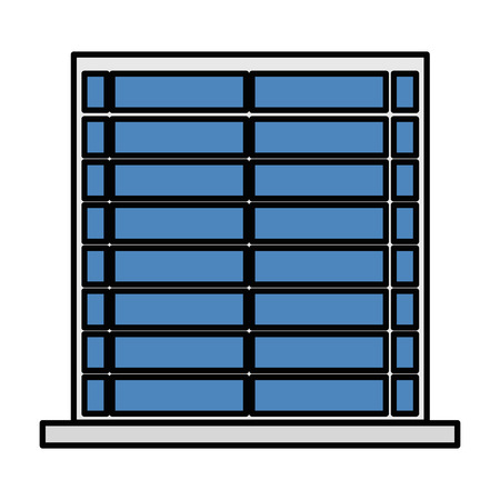 window with blind isolated icon vector illustration design