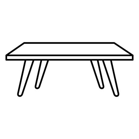 リビングルームセンターテーブルベクトルイラストデザイン  イラスト・ベクター素材