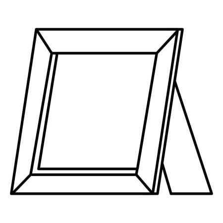 肖像画木製孤立したアイコンベクトルイラストデザイン  イラスト・ベクター素材