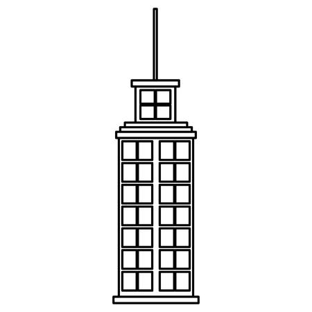 Big building skyscraper facade vector illustration design Illustration