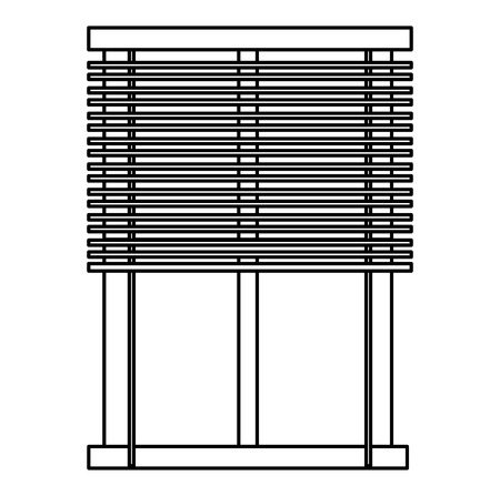 A window blind isolated icon vector linear illustration design Illusztráció