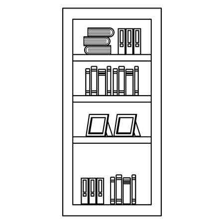 Estante con diseño de ilustración de vector de icono de libros Foto de archivo - 95735645