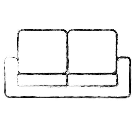 comfortable sofa isolated icon vector illustration design Illustration