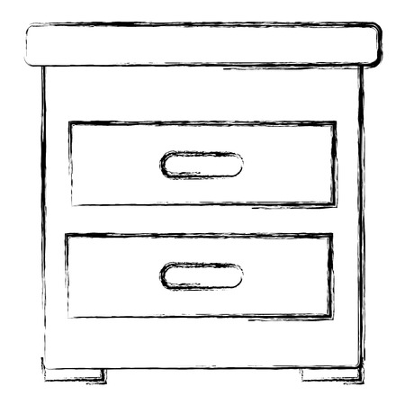 drawer bedroom isolated icon vector illustration design 向量圖像