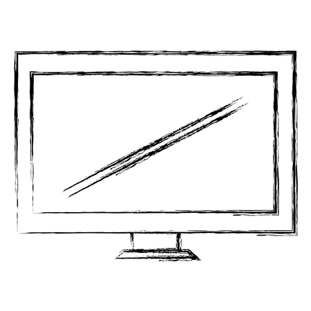 monitor computer display icon vector illustration design Illustration